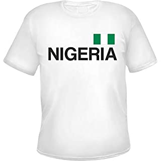 Nigeria Herren T-Shirt Weiß M