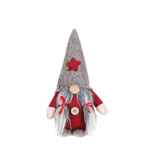 WAINEO Standing Plüsch Gnome Puppe schwedischen Weihnachts Santa Nisse Nordic Elf Figur Home Holiday Dekoration Ornament Weihnachtsgeschenke -
