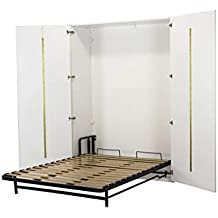 WallBedKing - Cama de pared (cama de matrimonio, cama plegable, cama de pared