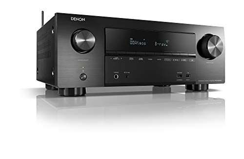 Denon AVRX2500H 7.2 Surround AV-Receiver (Alexa kompartibel, Phono, Dolby Vision Kompatibilität, Dolby Atmos, dtsX, WLAN, Bluetooth, Amazon Music, Spotify Connect, HDMI Eingänge, 7X 150 W) Schwarz