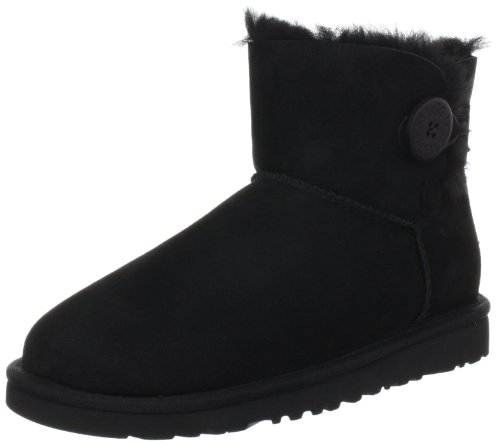 ugg-w-mini-bailey-button-damen-kurzschaft-schlupfstiefel-schwarz-black-38-eu-55-damen-uk