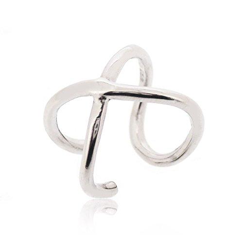 Sovats Damen X Kreuz Stulpe-Ohrring 925 Sterlingsilber