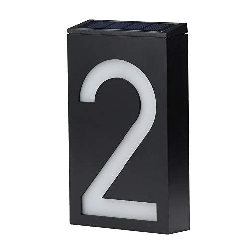 Dicomi 6 LED Solar Digitale Hausnummernlampe IP65 Wasserdicht für Hotels Adressen Schilder Plaketten Digitale Tafeln Schwarz-2 - Plakette