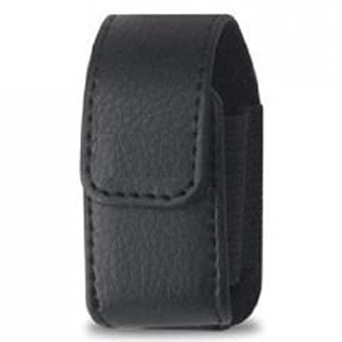 Tendance-Étui Vertical en cuir avec Passant de ceinture pour Oreillette Bluetooth Plantronics Explorer 395 étanches avec fermeture magnétique et Clip de ceinture & MYNETDEALS Mini Stylet