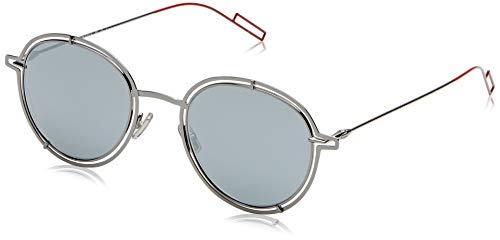 Dior dior0210s t4 kj1 occhiali da sole, grigio (dark ruthenium/black fl), 49 uomo