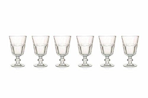 Villa d'Este Home Tivoli Floyd Set 6Weinglas, Glas, Transparent, 14,3x 8.50x 8.50cm