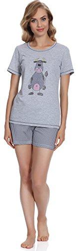 Italian Fashion IF Pigiama per Donna Raspberry 0227 Melange