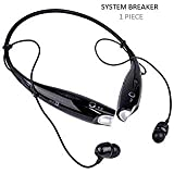 SYSTEM BREAKER™ 7-3-0 Sports Wireless Bluetooth Headphones with Mic, Extra Bass & Noise Reduction, Hands-Free Calling Compatible with All Android, iOS & Windows Device (Assorted Colour)