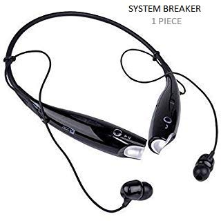 SYSTEM BREAKER® 7-3-0 Sports Wireless Bluetooth Headphones with Mic, Extra Bass & Noise Reduction, Hands-Free Calling Compatible with All Android, iOS & Windows Device (Assorted Colour)