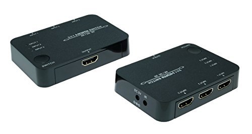 SunshineTronic Premium 4K x 2K HDMI Switch | Automatic | 3x IN, 1x OUT | HDTV, 3D 3 X 1 Hdmi Automatic Switch