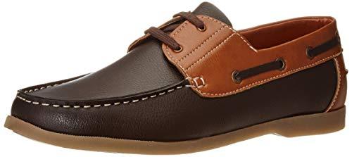 Amazon Brand - Symbol Men's Brown/Tan Boat Shoes-6 UK (40 EU) (7 US) (AZ-SY-442)