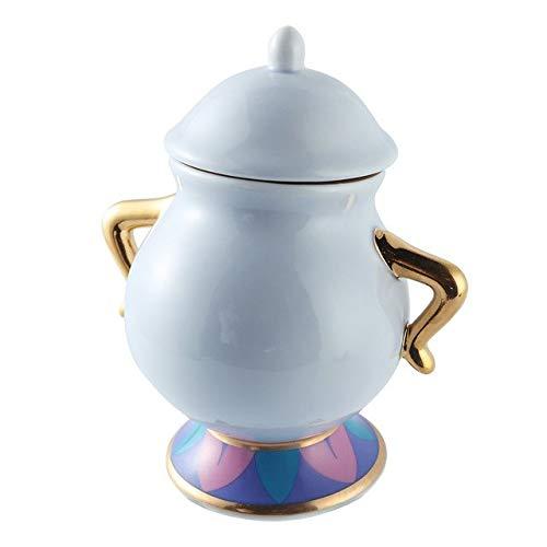 Platecartoon Teekanne Chip Tasse Zuckerdose Topfplatte Set Kaffee Wasserkocher Geburtstagsgeschenk, Zuckerdose ()