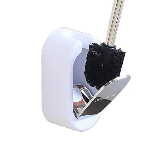 Exklusiver Toilettenbürstenhalter aus Edelstahl | Bad Badezimmer Glas Halter Klobürste Klobürstenhalter Toilette Toilettenbürste WC-Garnitur - Edelstahl (Gebürstet)