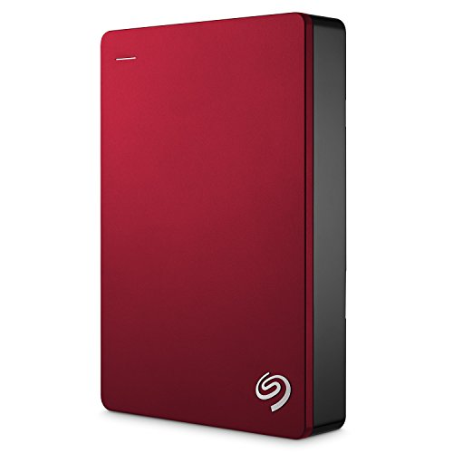 Externe Festplatte Segate Slim (Seagate STDR4000902 Backup Plus 4TB Externe tragbare Festplatte (inkl. Backup-Software und 2 Monate Adobe Creative Cloud Photography plan, USB 3.0, PC, MAC und PS4) rot)