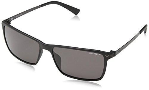 Police Herren Sonnenbrille S1957, Grau (Semi-Matt Black), Einheitsgröße