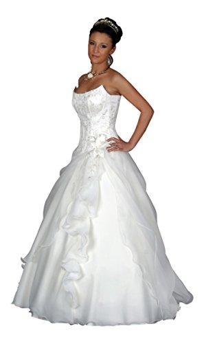 Brautkleid Anastasia mit Schleppe, weiß, inkl. Maßanfertigung (Kleider Anastasia Hochzeit)