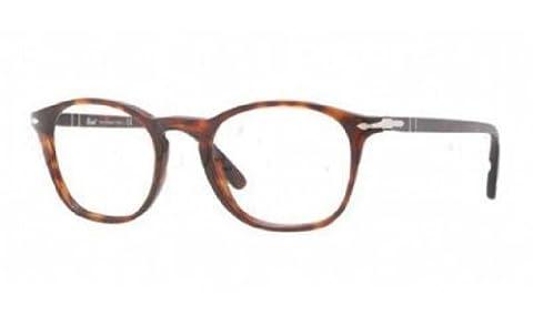 Persol Men's 3007 Tortoise Frame Plastic Eyeglasses, 50mm