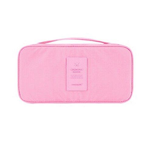 Reisetasche Kulturbeutel Damentasche Reise Koffer für Unterwäsche Kosmetikartikel Make-Up und weitere Kosmetik für Unterwegs Fitness Sport Urlaub Reise Wellness Kurzurlaub (Dunkelpink) (Gabbana Unterwäsche)