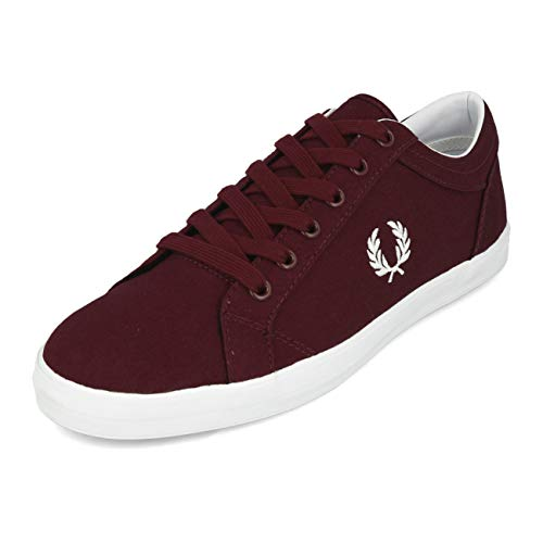 Fred Perry Baseline Canvas Ox Blood B3114597, Turnschuhe - 45 EU -