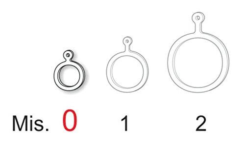Stonfo elastischer Ringe von Köder, Pellet Köder Haken Karpfen Fisch Größe 0–1–2 (Fischen Haken 10 0)