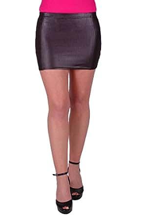 EyeCatchClothing - Melody Womens Short Mini Stretch Skirt Black Size S/M