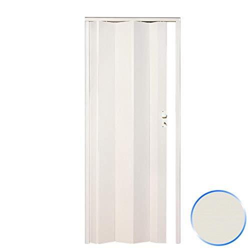 Puerta Plegable de Interior de PVC Blanco Fresno 83x214 cm Mod.Maya