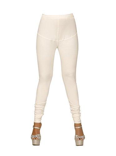 Women\'s Leggings Cotton Churidar V Cut Gold (CREAM) By BARBIS