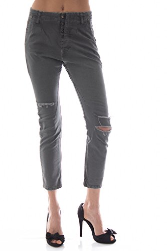 PLEASE - P18 v82 femme jeans pantalon skinny fit Gris
