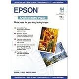 Epson Lot de 50 feuilles perforées de Papier mat A4