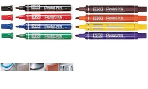 pentel-marqueur-permanent-n50-pointe-ogive-2-mm-marron
