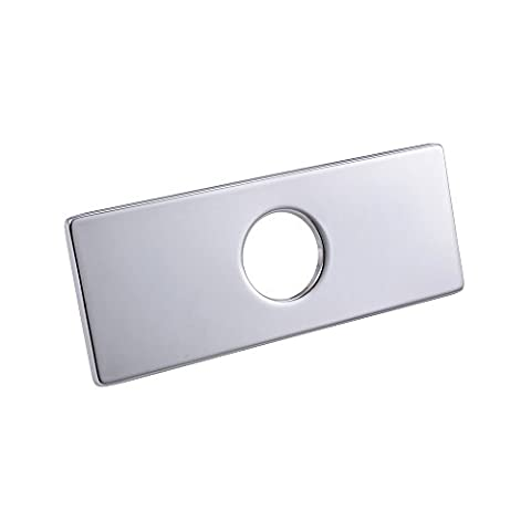 KES 6-Inch Sink Faucet Hole Cover Deck Plate Square Escutcheon