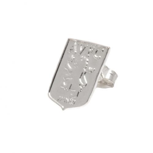 Aston Villa FC sterling Silber sterling Silber earring- earring- ca. 13 x 10 mm, in Geschenkverpackung, Offizielles Fußball-Merchandising-Produkt