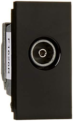 MK Electric Edge Single Outlet (Iec Female weiblich) Schwarz 1 Euro Multimedia Modul -