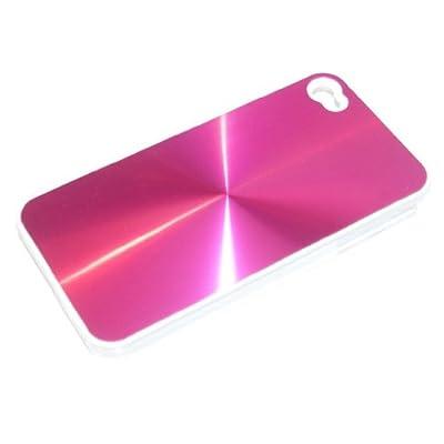 "Slabo Hardcase Case Schutzhülle für Apple iPhone 4 - ""Aluminium Alu | Metall Optik"" - PINK | ROSA von Slabo auf Lampenhans.de"