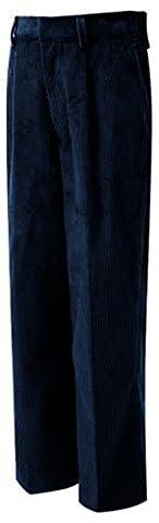 Uniforme Scolaire Jeunesse Pantalon Velours Côtelé Juniors Schoolgear Plat Bas Pantalon - Bleu - Bleu marine, Bleu marine, 32