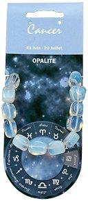 Natural & Books: Armband Nuggets Opalith–Krebs–Heilstein: Wunsch–Aufladung–Transformation