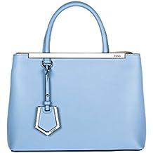 Fendi bolso de mano para compras en piel mujer nuevo 2jours blu