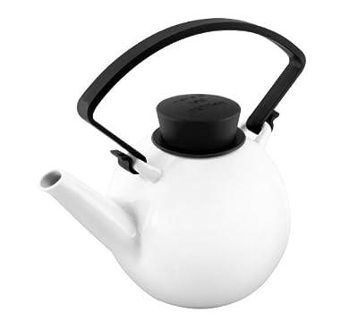 QDO Théière ronde en porcelaine 1 litre - coloris noir
