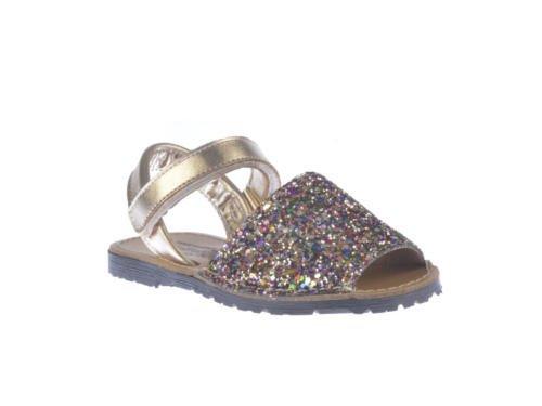 Sandalias Menorquinas Niñas Glitter Todo Piel mod203