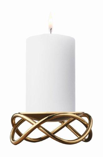 Georg Jensen Glow Kerzenständer (Edelstahl mit 18 Karat Goldauflage)