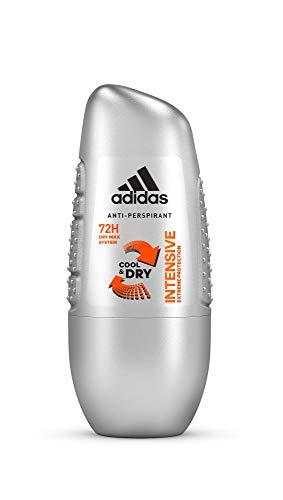 adidas Intensive Anti-Perpirant Deo Roll-on für Herren mit intensivem Schutz bis zu 72h, 6er Pack (6 x 50 ml) - Adidas Deo-antitranspirant