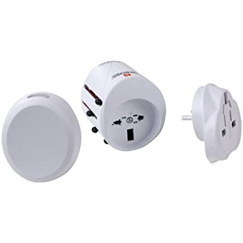 Skross - 1300120 - Adaptateur :prise courant/USB - World adapter classic USB - pour 150 pays - Blanc