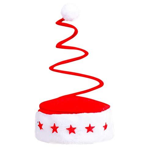 Skxinn Funny Weihnachtsmütze,verschiedene Modelle, Weihnachtsmann Mütze Weihnacht Nikolaus, Für Kinder & Erwachsene(A,One size)