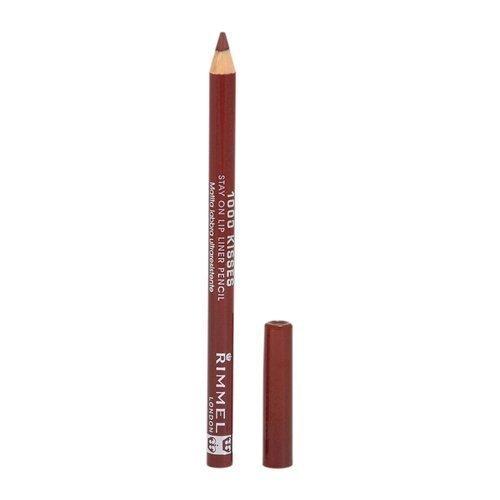 Rimmel Crayon contour des lèvres 1000 Kisses - Tracé précis et régulier, intense en couleur - Longue tenue - Coloris Coffee Bean (Ensemble de 3)