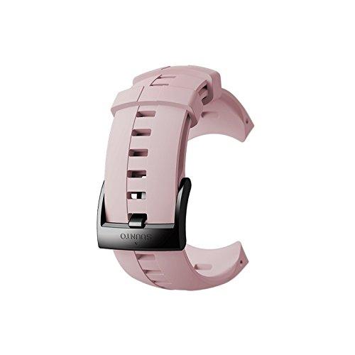 Preisvergleich Produktbild Suunto,  Original Ersatz-Uhrenarmband für alle Suunto Sparten Sport Wrist HR Uhren,  Silikon,  Länge: 24, 5 cm,  Stegbreite: 25 mm,  Rosa / Schwarz,  Inkl. Stifte zur Montage,  SS022933000