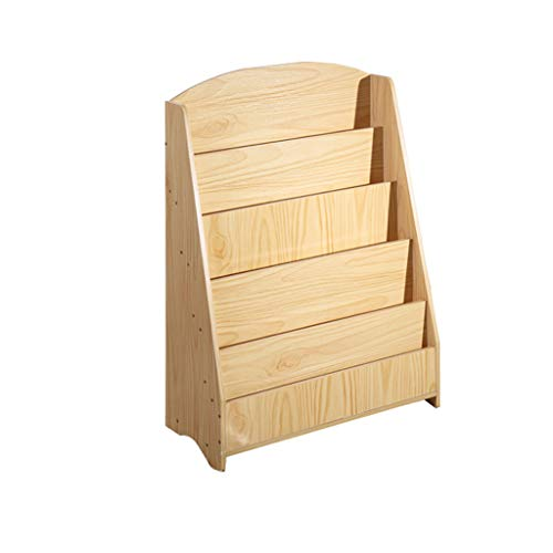 Childrens Sling Wood Bücherregal, Kinderzimmer Baby Schlafzimmer Buch Display Rack, Easy Access Buch Lagerregal (Buch Display Bücherregal)