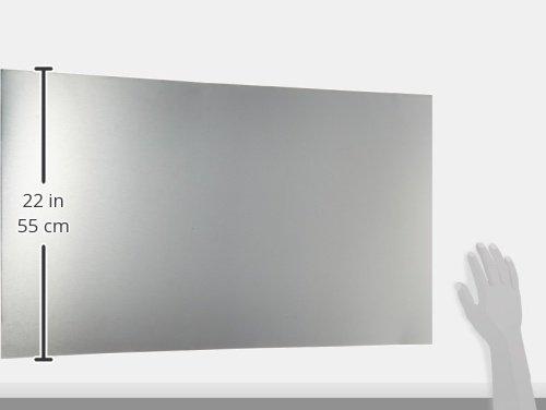 Compactor pannello paraschizzi in acciaio inox pannello paraschizzi metallo acciaio spazzolato - Pannello paraschizzi cucina ...