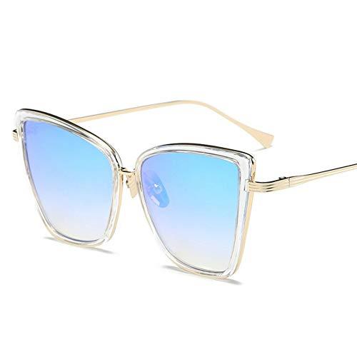 WZYMNTYJ Metallrahmen Cat Eye Frauen Sonnenbrillen Weibliche Sonnenbrillen Berühmte Legierung Beine Gläser
