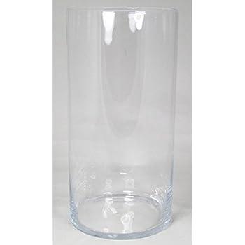 Amazon De Inna Glas Bodenvase Roman Zylinder Rund Klar 50cm