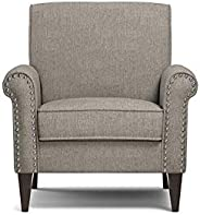 A to Z Furniture - Jean Dove Grey Linen Arm Chair